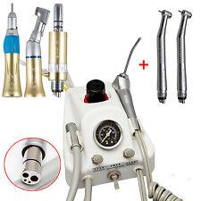 Dental Portable Air Turbine Unit 4 Hole + NSK High & low handpiece kit Gold AU
