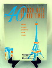 French Hits of Our Times 40 Music Book Piano Vocal Guitar 1959