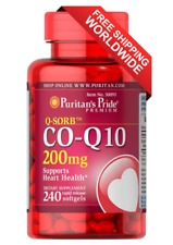 Puritan's Pride Q-SORB Co Q-10 200 mg 240 Rapid Release Softgels FREE SHIPPING