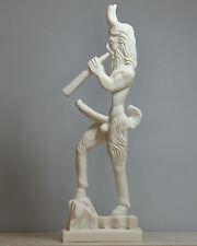 Greek Wild Nature God PAN Faunus Penis Fertility Cast Marble Statue Sculpture