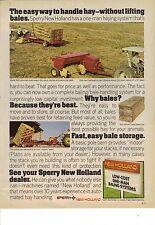 Original 1977 Sperry New Holland Hay Baler Magazine Ad