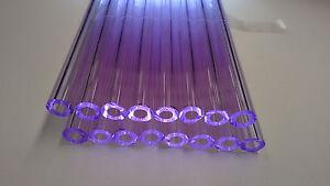 Glass Tubing LILAC BOROSILICATE (PYREX) 16 PIECES 150MM LONG 9MM*2MM Tube