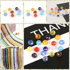 Wholesale Faceted Rondelle Crystal Glass Beads Loose DIY Jewelry Making 4/6/8mm