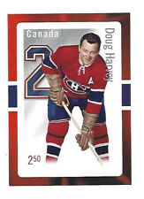 CANADA POST STAMP ORIGINAL 6 MONTREAL DOUG HARVEY SOUVENIR HOCKEY CARD STYLE