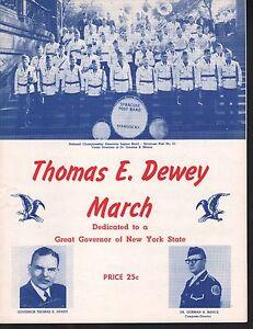 Thomas E Dewey March 1952 Sheet Music