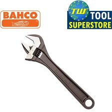 "Bahco 8"" Black Adjustable Spanner 200mm Wrench - 27mm Wide Jaw Capacity 8071"