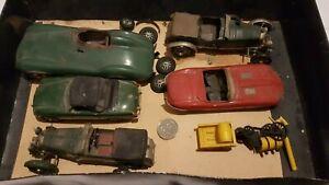 Vintage British Classic Car model Job Lot Bentley Jaguar D +E Type MGB Rocket