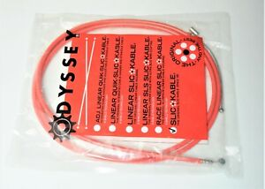 ODYSSEY SLIC KABLE BMX FREE STYLE BICYCLE RED 245 MM FRONT BRAKE CABLE & HOUSING