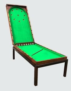 EXCEPTIONAL 19TH C MAHOGANY BAGATELLE PARLOR ANTIQUE TABLE GAME / COFFEE TABLE