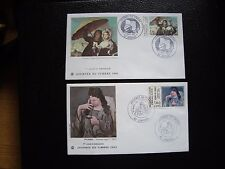 FRANCE - 2 enveloppes 1er jour 1981/1982 (journee timbre) (cy92) french (A)