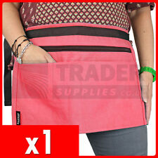 1 x 4 Pocket PINK Market Trader Money Bag Cash Belt Pouch Best Quality Available
