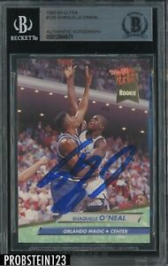 Shaquille O'Neal HOF Signed 1992-93 Fleer Ultra #328 RC AUTO BGS BAS