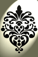 Vintage damassé pochoir shabby chic style rustique Mylar A4 297x210mm design mur 3