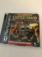 Ballerburg Castle Chaos (Sony Playstation 1, 2003) PS1 W/ Registration Card