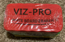 VIZ-PRO Magnetic White Board Eraser/Dry Erase Eraser, 3 Colored Eraser, 3 Piece