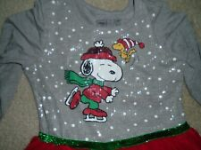 GIRLS XL - SNOOPY & WOOSTOCK - PEANUTS HOLIDAY/CHRISTMAS DRESS - NWT