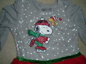 GIRLS XL - SNOOPY & WOOSTOCK - PEANUTS HOLIDAY/CHRISTMAS DRESS - NWT