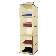 Clothes Hanger Organizer Box 5 Storage Shelves Wardrobe Bedroom Closet Cubby New