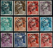 FRANCE 1945/47 MARIANNE de GANDON Série PREO  n° 94 à 104 Neufs ★★ luxe / MNH