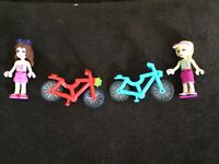 LEGO Friends 2 Bicycles with 2 Girl Minifigures