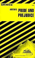 "Cliff Notes Paperback book for Jane Austen's novel ""Pride and Prejudice"""