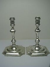 2 SILVERPLATE SILVER PLATED CANDLESTICKS CANDLE HOLDERS England ca1870s