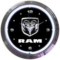 "Dodge Ram Truck Car Garage Neon Clock 15""x15"""