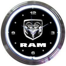 "Ram Truck Car Garage Neon Clock 15""x15"""