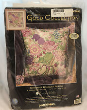 Dimensions Gold Collection  Somerset Bouquet Pillow  Needlepoint Kit   20017