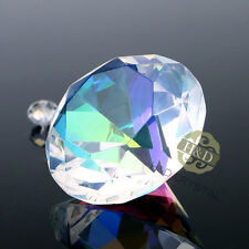 Colorful Crystal Diamond Shape Paperweight Glass Gem Display Ornament Gift 40mm