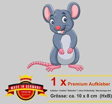 Lustiger Auto Aufkleber Maus mice Tier Mäuse Motorrad car Sticker Autoaufkleber