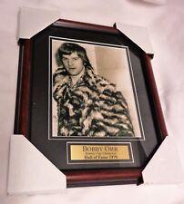 Boston Bruins 1970s Fur Coat Pimp Bobby Orr Framed Picture 13x16 FREESHIP