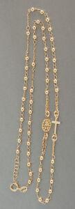 Rosenkranz Silber 925 Gelbgold vergoldet Rosario Kugelkette Silberkette Gold