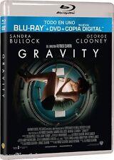 GRAVITY BLU RAY + DVD + COPIA DIGITAL NUEVO ( SIN ABRIR ) BULLOCK Y CLOONEY