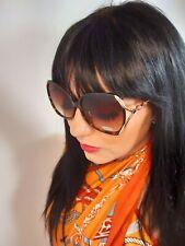 Designer Inspired Sunglasses Tortoise Shell Tinted Oversized Retro UV400 NEW