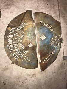 Vintage Chas Stehling Pump Brass Stencil Sign Milwaukee Wisconsin