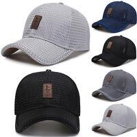 Summer Outdoor Sport Sun Cap Men Women Baseball Cap Tennis Golf Mesh Visor Hats