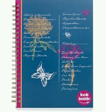 a4 flower botanica printed pages notebook mothers day gift with FREE a6 book