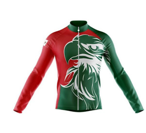 Mexico Flag V7 Novelty Cycling Jersey Long Sleeve