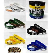 Hot 6pcs LOL League of Legends ADC Jungle Support Top Mid Pentakill Bracelets