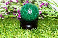 Green Malachite Orgone Sphere Turtle Symbol healing size 50-55 mm