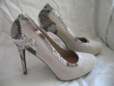 Size 8 Avon Forever Exotic Print Pumps New by Paula Abdul Beige Free Shipping