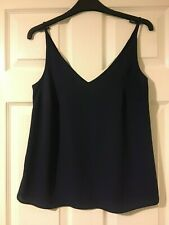 Papaya Navy strappy top Size 8