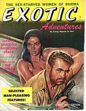 EXOTIC ADVENTURES v1 #1 1958 MEN'S PULP MAGAZINE Pinups JUVENILE DELINQUINTS