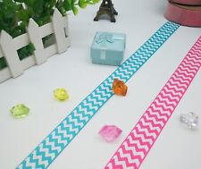 22mm Grosgrain Chevron zigzag Ribbon 2m Pink teal wrapping party decoration