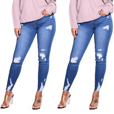 Womens Ladies Ripped Jeans Jegging Fashion Stretchy Skinny Denim Pants Trousers
