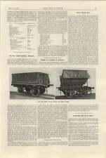 1925 Motor Ship Beldis Cargo Of Locomotives 15 Ton Side Tipping Wagons