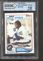 1982 Lawrence Taylor Topps #434 Gem Mint 10 RC Rookie New York Giants