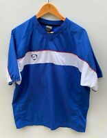 NIKE DRI-FIT SOCCER FOOTBALL retro blue lightweight short sleeve top size M