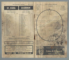 1971 VFL Football Record St Kilda v Essendon May 8 Saints Bombers
